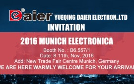 8-11th Nov. 2016 DAIER Munich Electronica