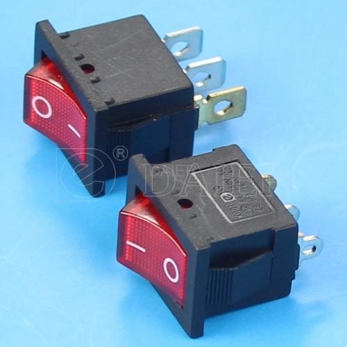 KCD1-2-101N Lighted Rocker Switch