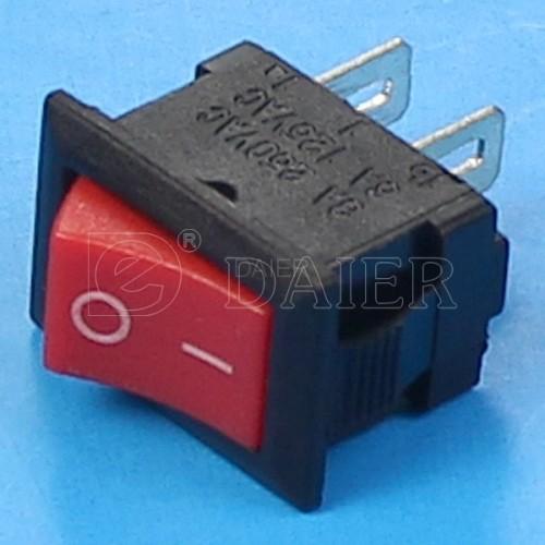 KCD5-101 Small Black ON OFF Rocker Switch