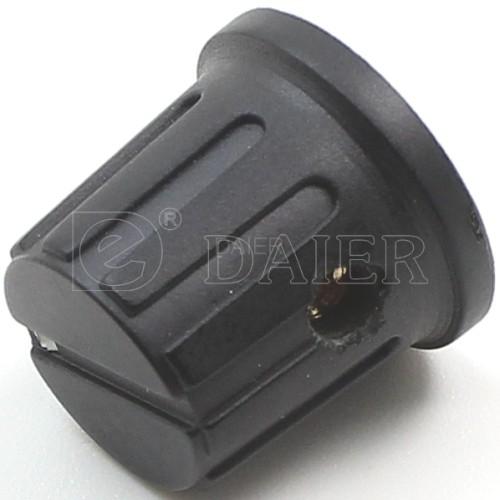 KN-8 White Dot Plastic Skirted Control Knobs
