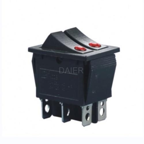 KCD2-2101EN 2 Way Maintained Rocker Switch