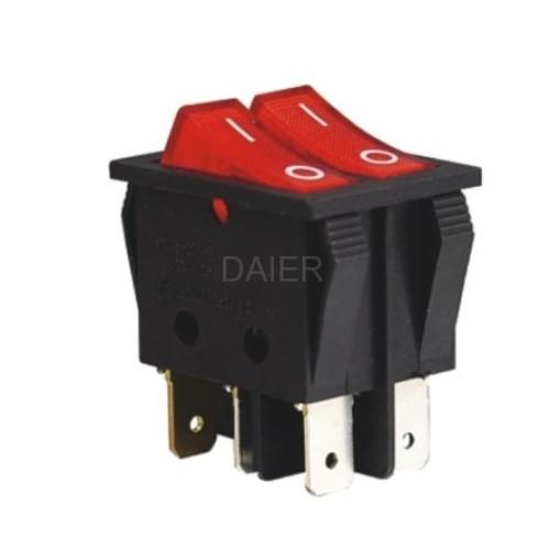 KCD2-4-2101N DPSTRocker Switch