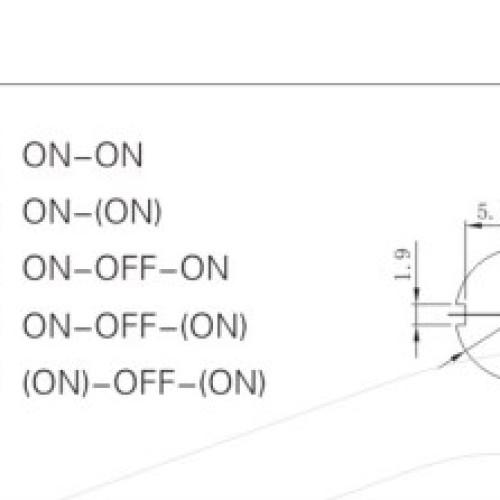 KN3C-202E 2 Way Toggle Switch