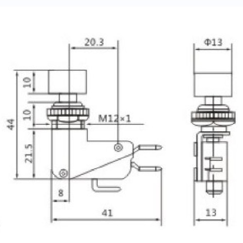 DS-438 Push Button Micro Switch