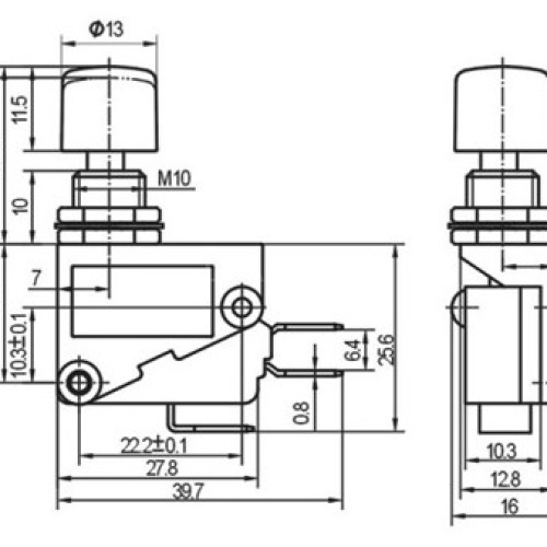 DS-438-2 Plastic Push Button Switch