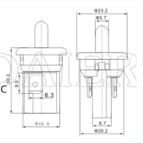 PBS-35C Cabinet Door Switch