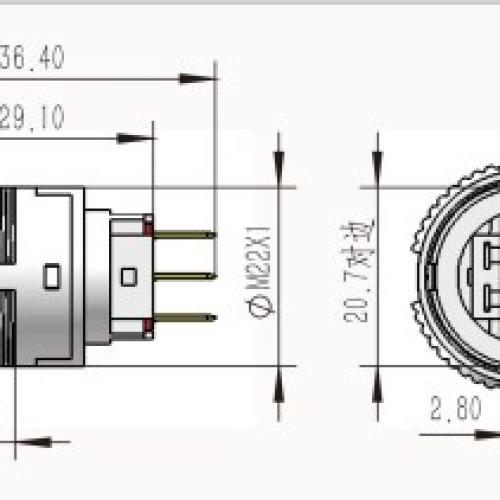 L22F-11M-S 22mm Waterproof Push Switch