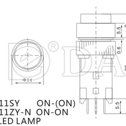 A12-11SY Momentary Industrial Push Switch