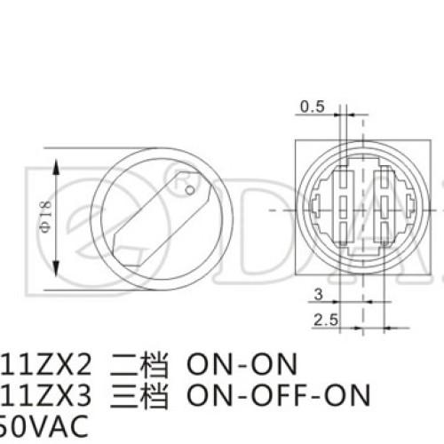 A16-11ZX2 Round Rotary Switch