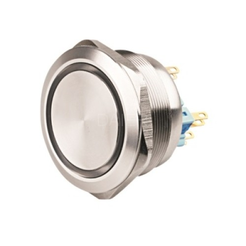 GQ40F-22E 40MM big metal push button switch with ring LED