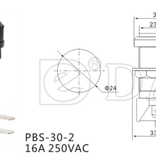 PBS-30-2 Round Game Push Button Switch