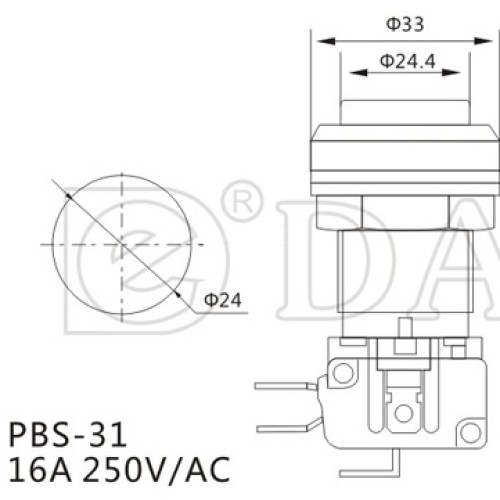 PBS-31 Square Game Switch