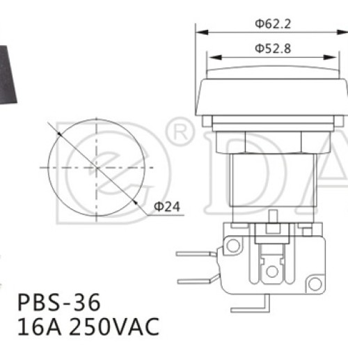 PBS-36 Self-resetting Push Button Switch