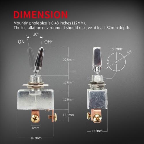 R13-401-101 2 Pin Automotive Toggle Switch