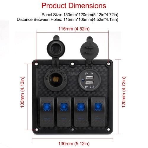 PN-R4S2 Car Rocker Switch Panel