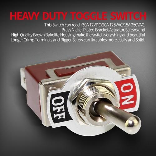 KN3C-101P Spade Terminal Toggle Switch