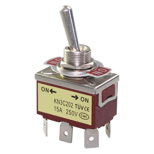 KN3C-202 DPDT Medium Toggle Switch