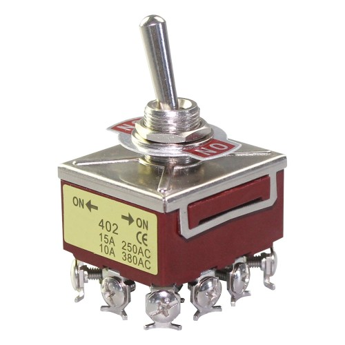 KN3C-402 4PDT ON ON Toggle Switch