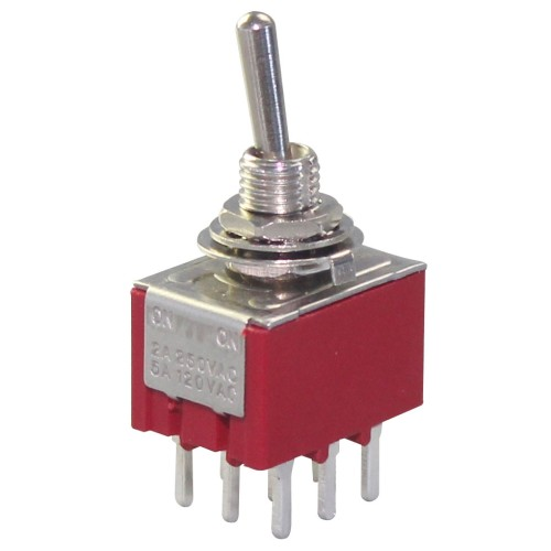 MTS-302 3PDT ON-ON Toggle Switch