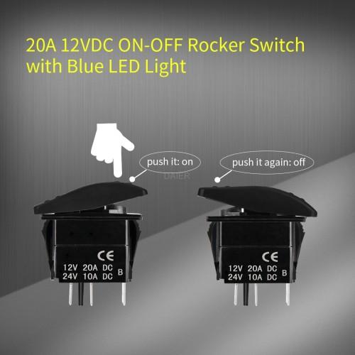 DR-A11625A Waterproof Marine Rocker Switch