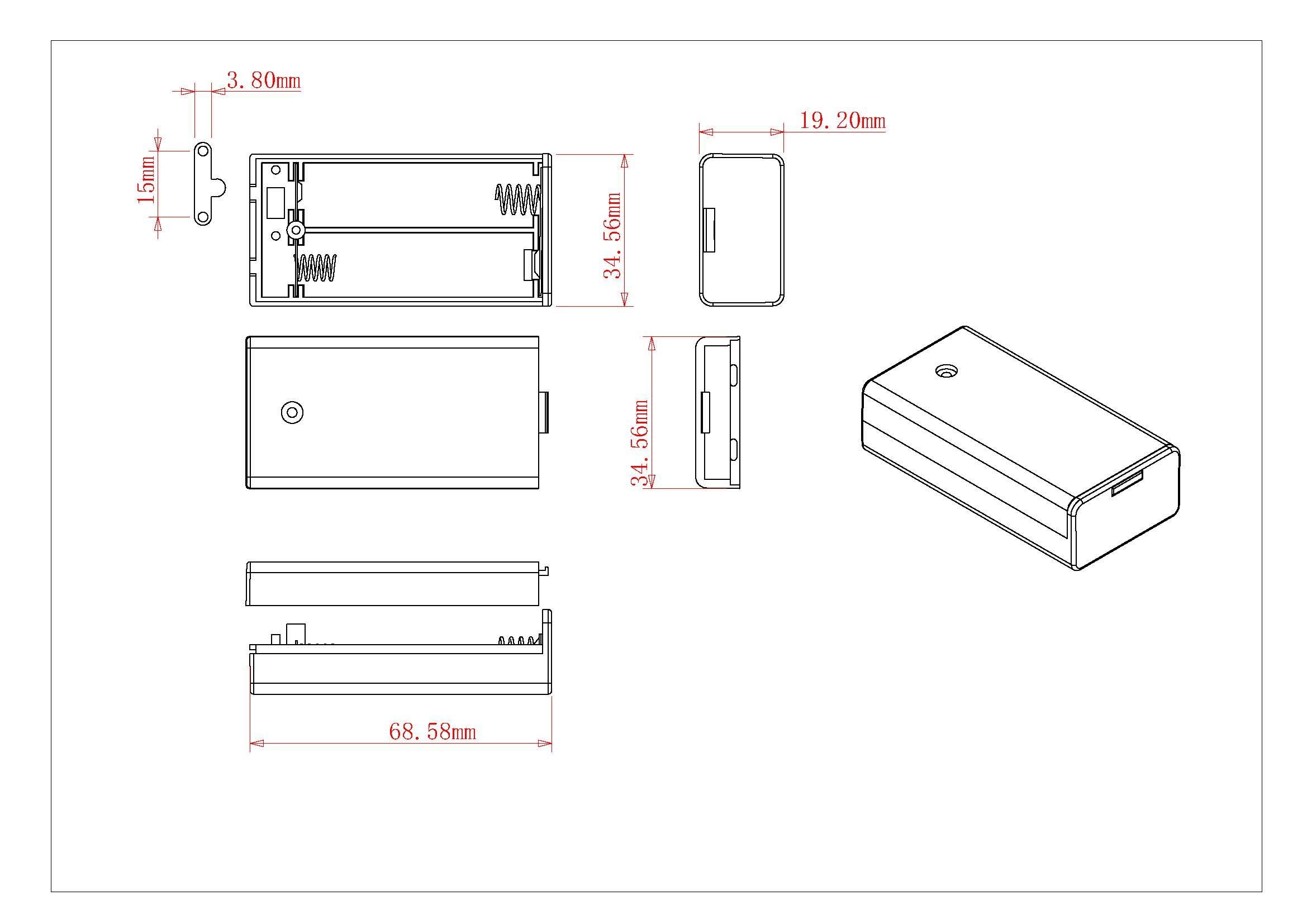 BH5-2003 Battery holder