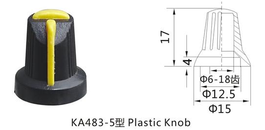KA483-5 rotary switch knob