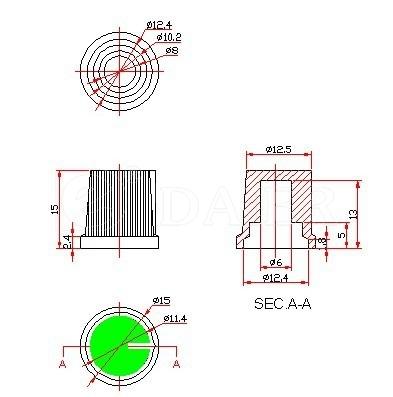 KA485-2 rotary knob