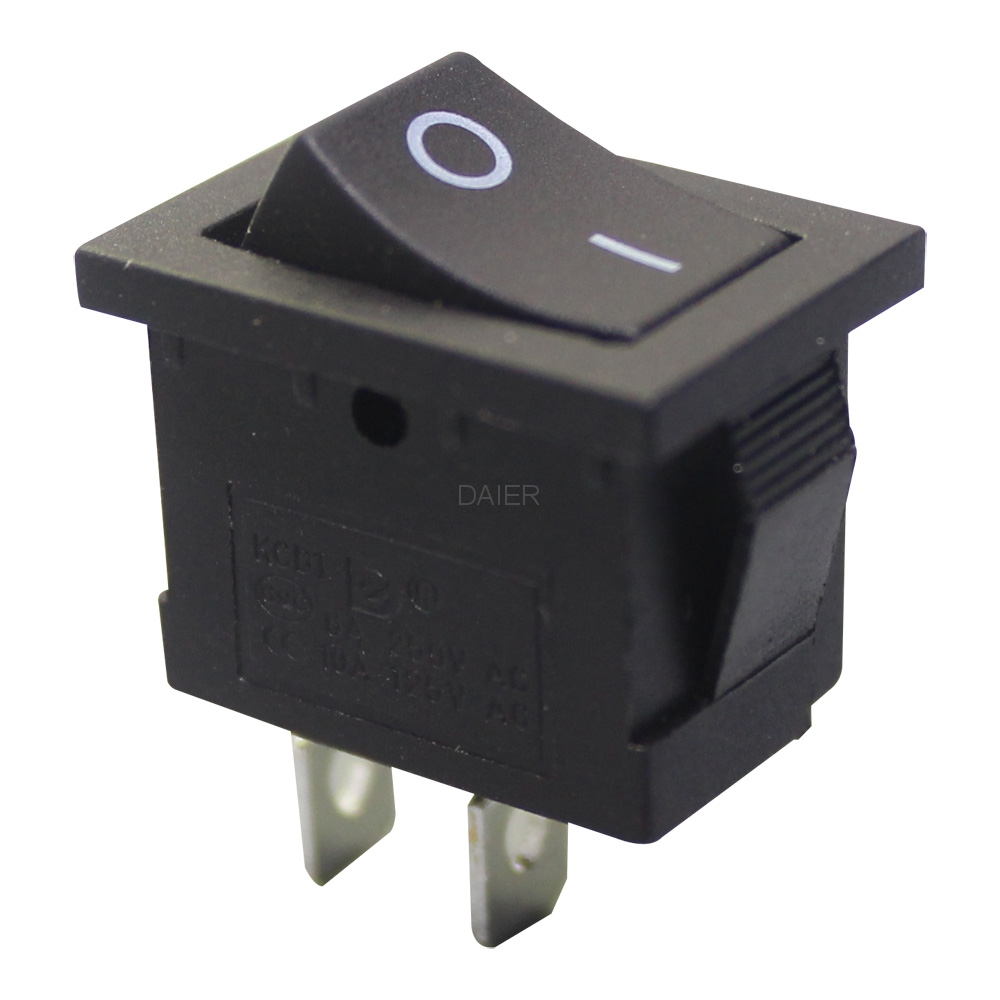 spst rocker switch KCD1-2-101 on off black color with I O printing