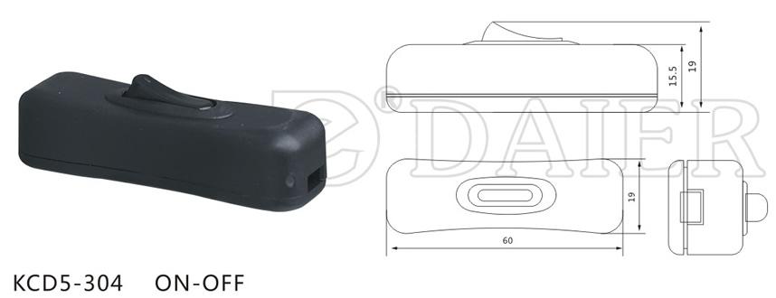 KCD5-304 Inline Rocker Lamp Switch datasheet