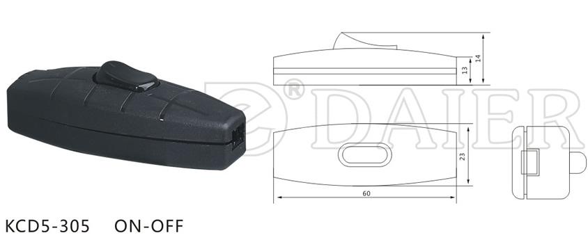 KCD5-305 In Line Rocker Switch datasheet