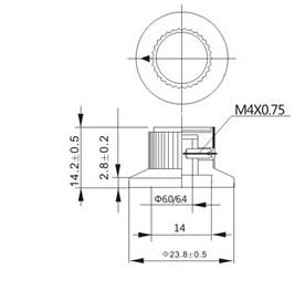KN-138 KN-135 KN-139 volume control knob