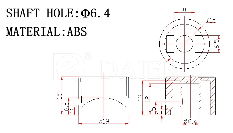 KN-19 Potentiometer knob