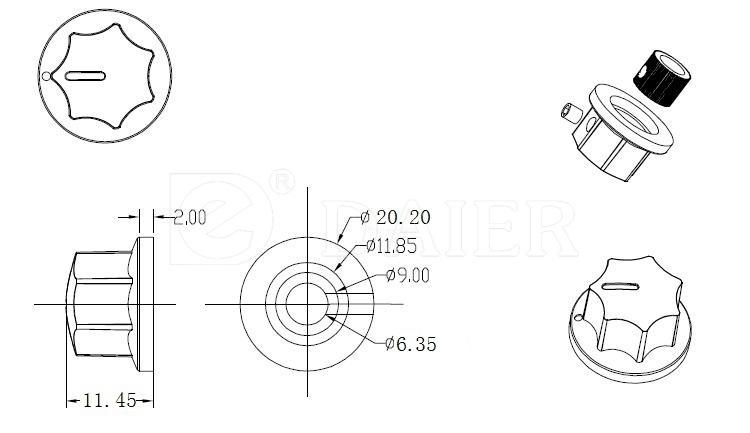 MF-B00 universal switch knob