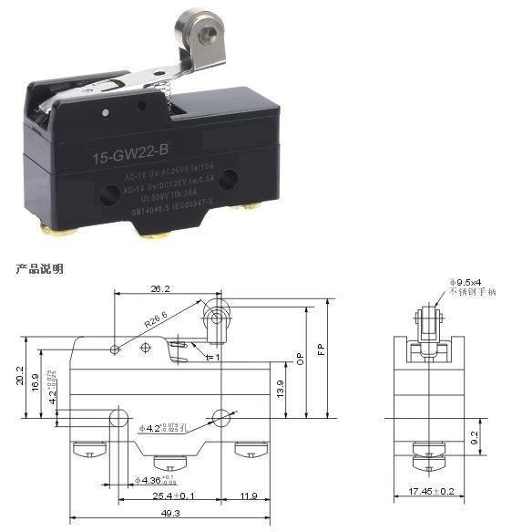 Z-15GW22-B micro limit switch