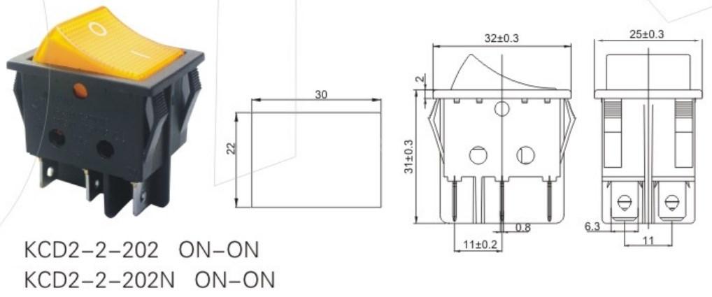 KCD2-2-202N Safety Rocker Switch T85 datasheet