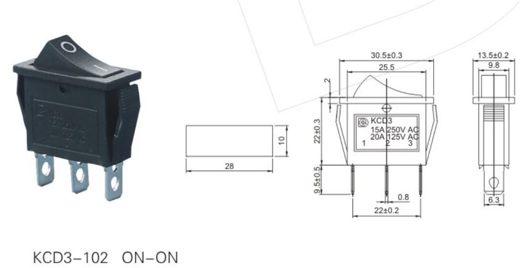 KCD3-102 Electric Rocker Switch datasheet