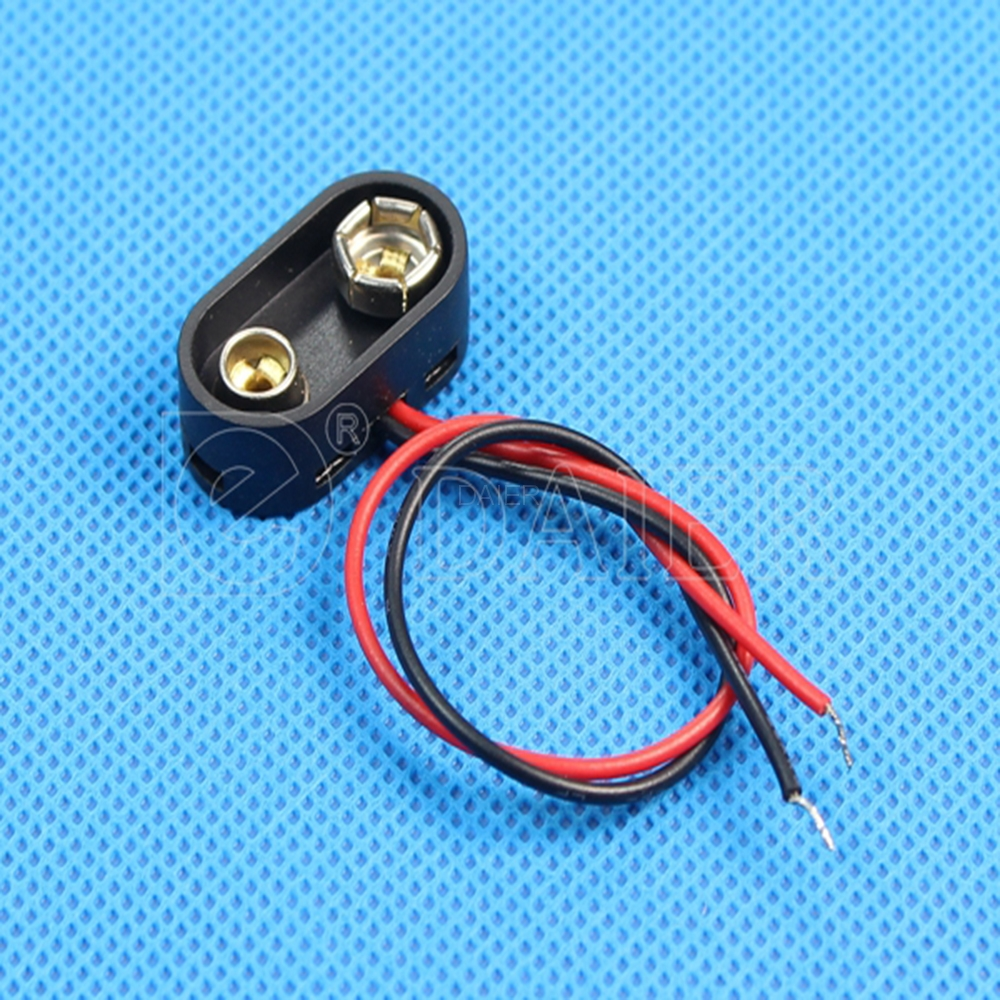9 volt battery connector DCK4 9v battery snap with 150mm wires