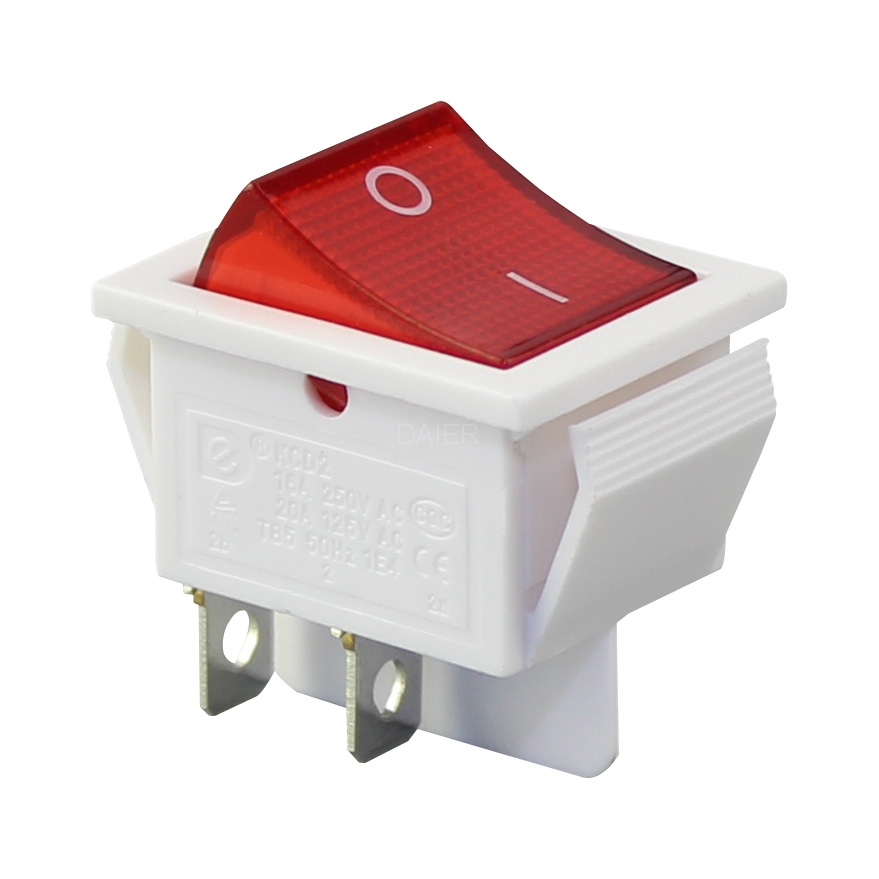 20 amp illuminated rocker switch with 220vac lamp red color