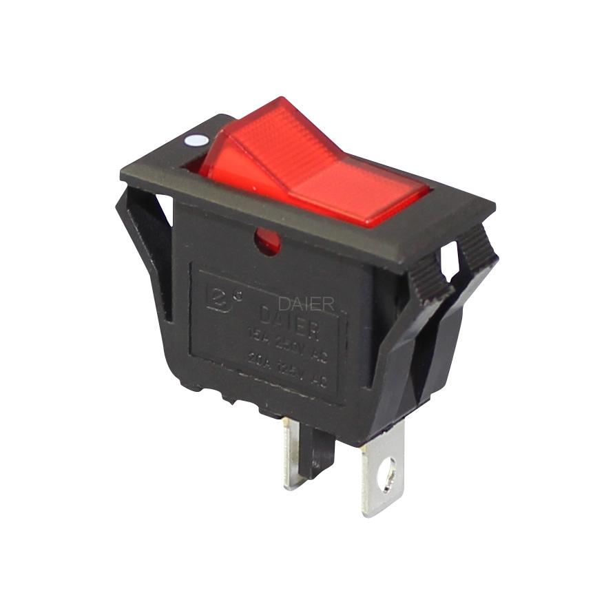 15 amp rocker switch spst on off KCD3-2-101V with V shape button