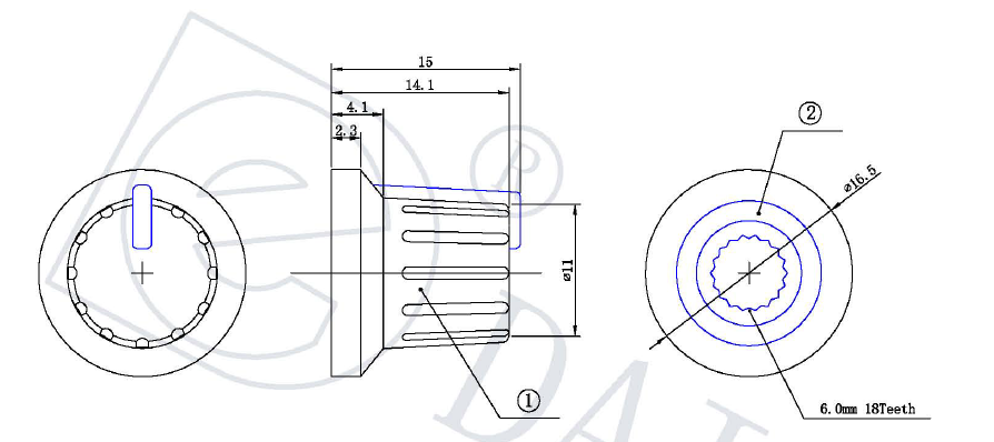 KN-1614 KN-1615 KN-1516 knob potentiometer