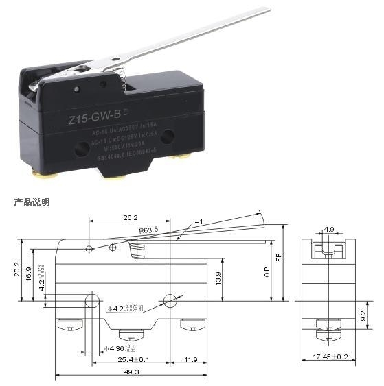 Z-15GW-B micro switch limit switch
