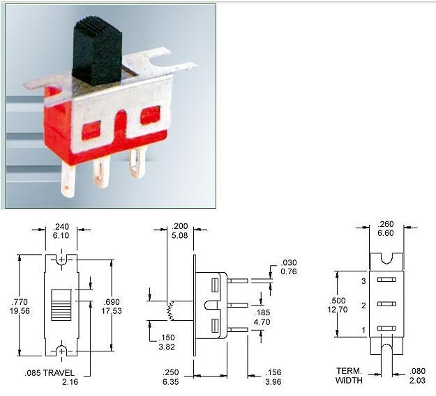 SS8-1-1 slide switch