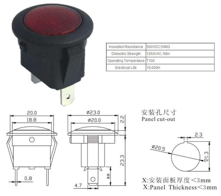 KCD1-5-D pilot lamp price