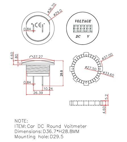 waterproof voltmeter