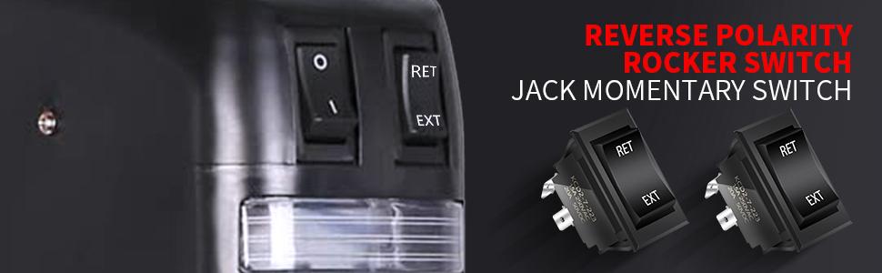 KCD2-7-223B DaierTek Reverse Rocker Switch